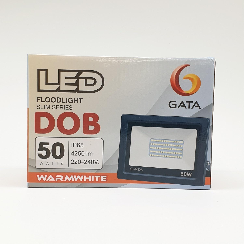 GATA โคมฟลัดไลท์ Warm  (สว่างพิเศษ)  LED 50W สีดำ