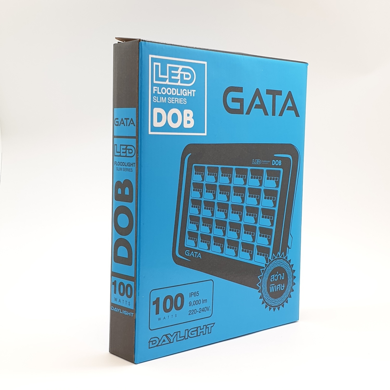 GATA โคมฟลัดไลท์ แอลอีดี  100วัตต์ เดย์ Day Slim สีดำ
