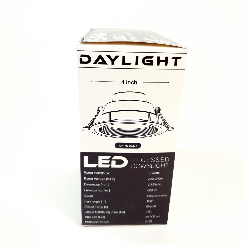 GATA โคมดาวไลท์ LED ขนาด 4นิ้ว 8W Day สีขาว