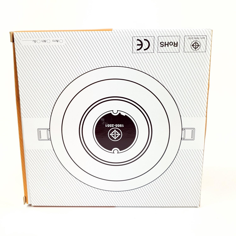 GATA โคมดาวไลท์ LED ขนาด 6 นิ้ว 15W. Warm (แบบกลม) สีขาว