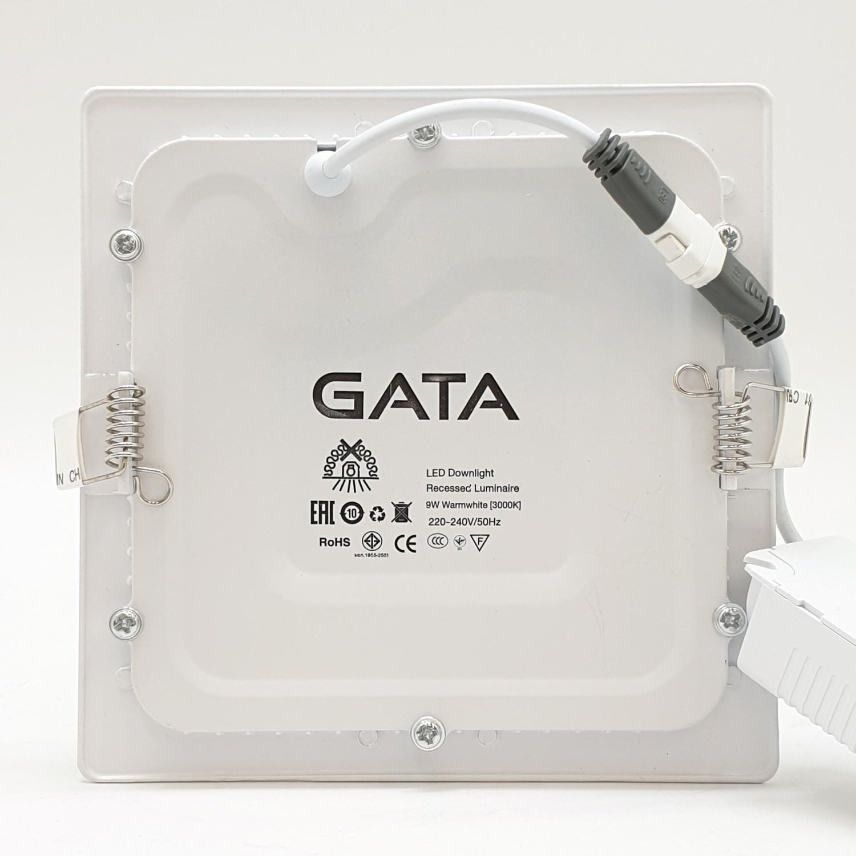 GATA โคมดาวไลท์ LED ขนาด 4นิ้ัว  9W Warm (Slim1) สี่เหลี่ยม