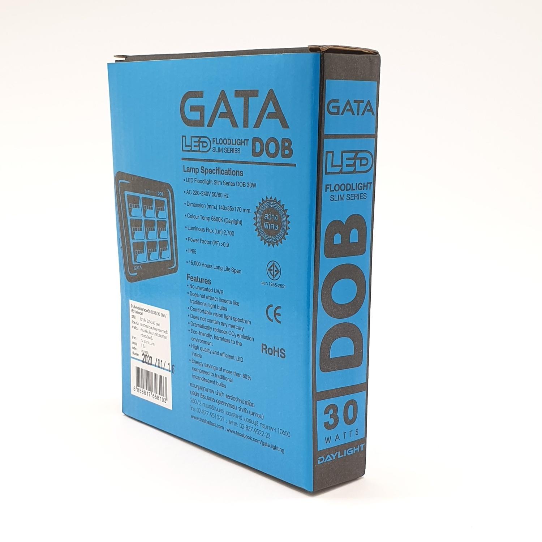 GATA โคมฟลัดไลท์ แอลอีดี 30 วัตต์ เดย์ไลท์  ทรง สลิม  สีดำ