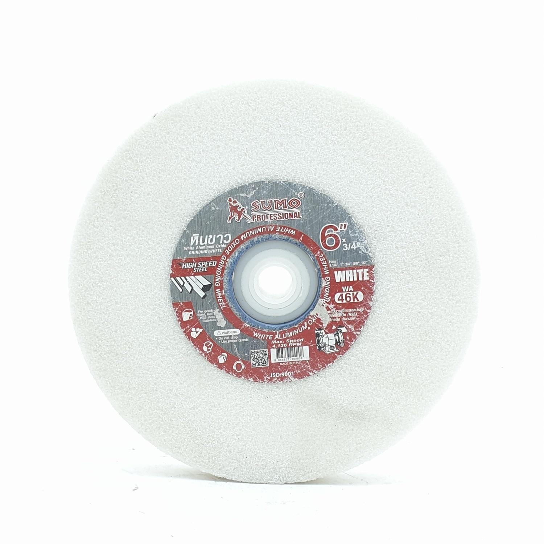 SUMO หินเจียร์สีขาว  D 6 ขาว