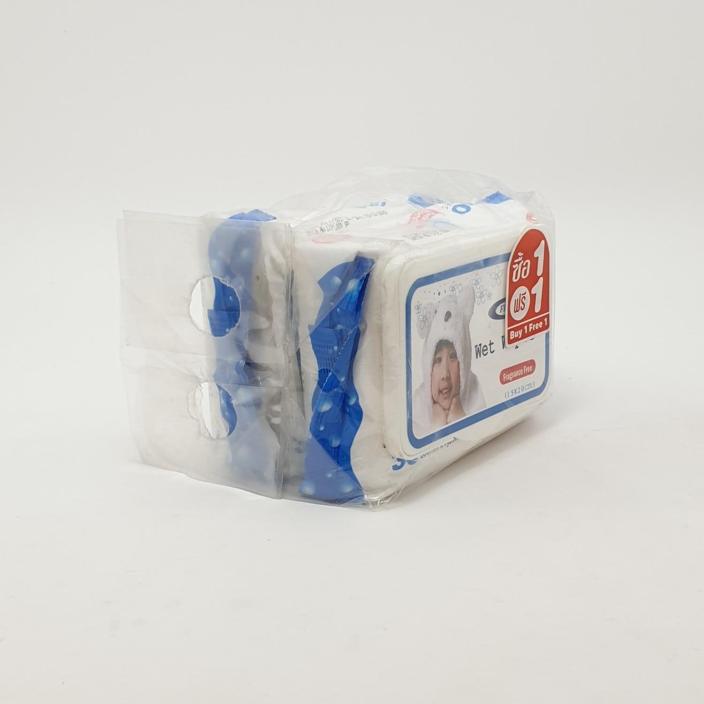 - ผ้าเปียก 30 แผ่นไม่มีกลิ่น (1แถม1) เฟรชพลัส TS-S-001