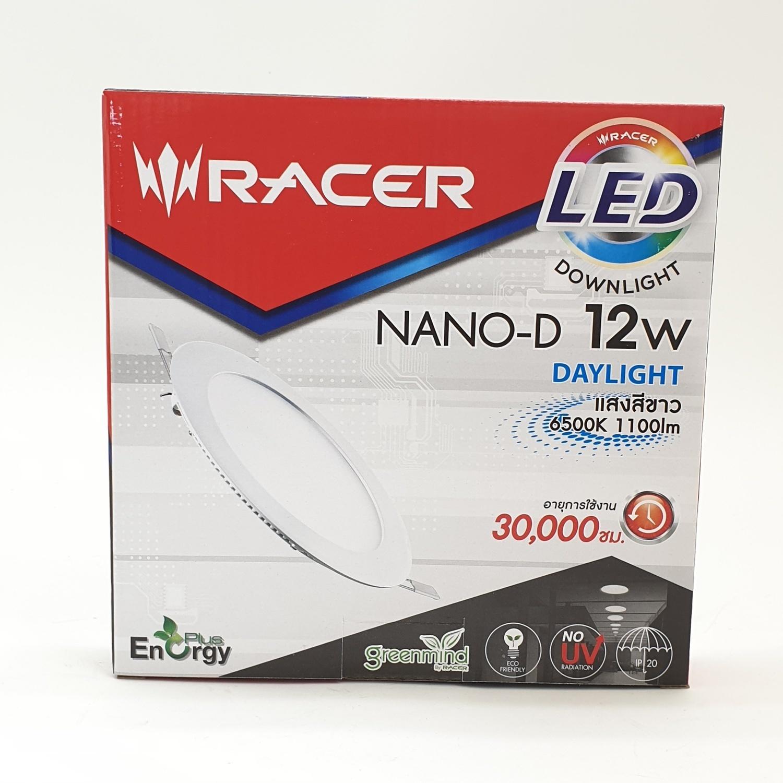 RACER ดาวน์ไลท์ LED NANO-D กลม 12W. DL. 1310101LLJJ000097 สีขาว