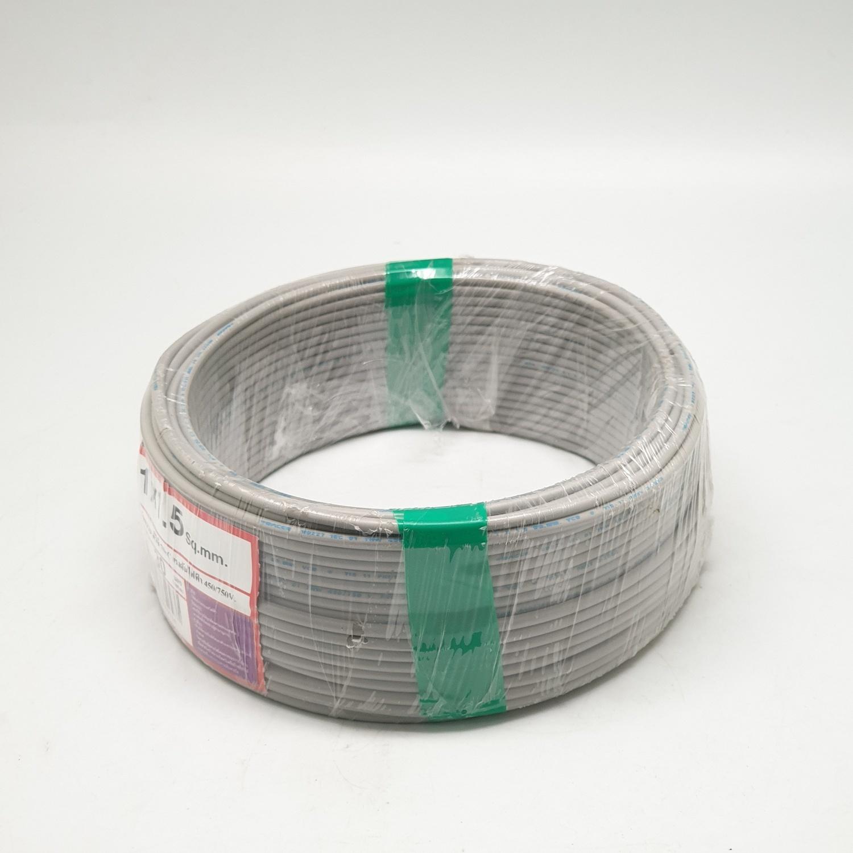 RACER สายไฟ IEC01 THW 1x 1.5  30M เทา