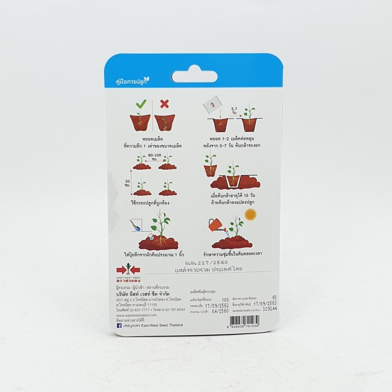ศรแดง ถั่วลันเตา (ถั่วหวาน) หวานมรกต - สีขาว