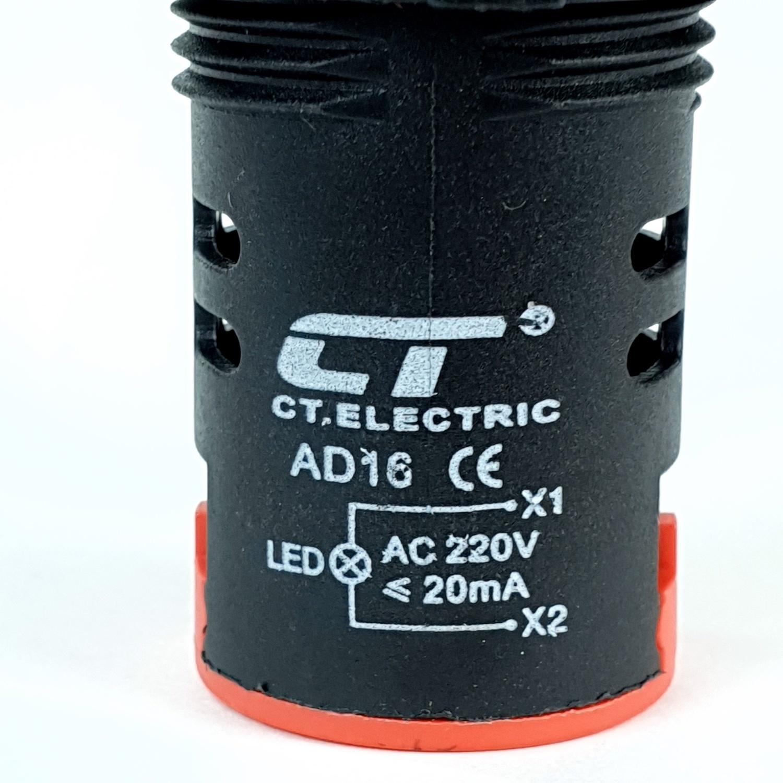 CT ELECTRIC ไพลอตแลมป์(LED) AD16 สีแดง AD16 LED Red color