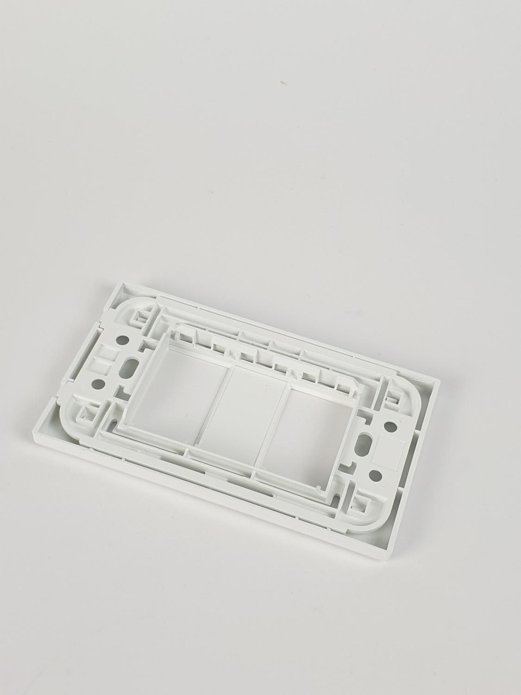Gpower ฝาพลาสติก 2ช่อง G power/A-102 A-102 สีขาว