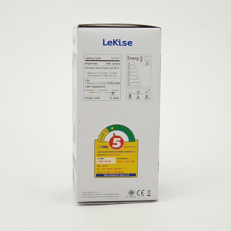 LEKISE หลอด LED A60 15W เดย์ไลท์ KLASSIC PLUS สีขาว