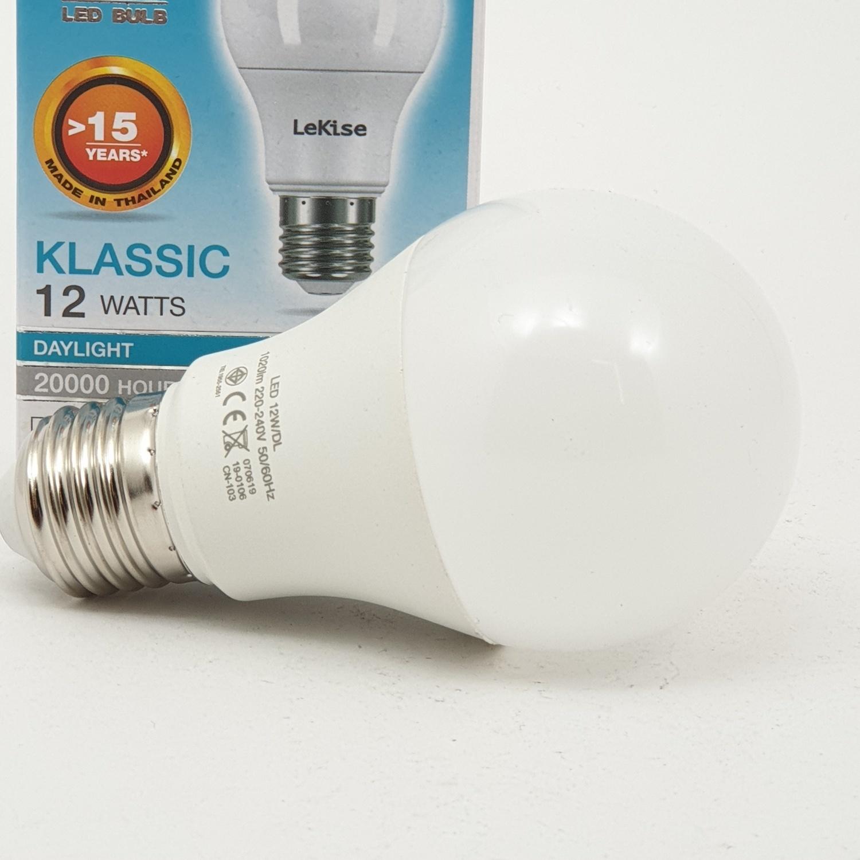 LEKISE หลอดไฟ  LED  12W / DL    LED KLASSIC สีขาว