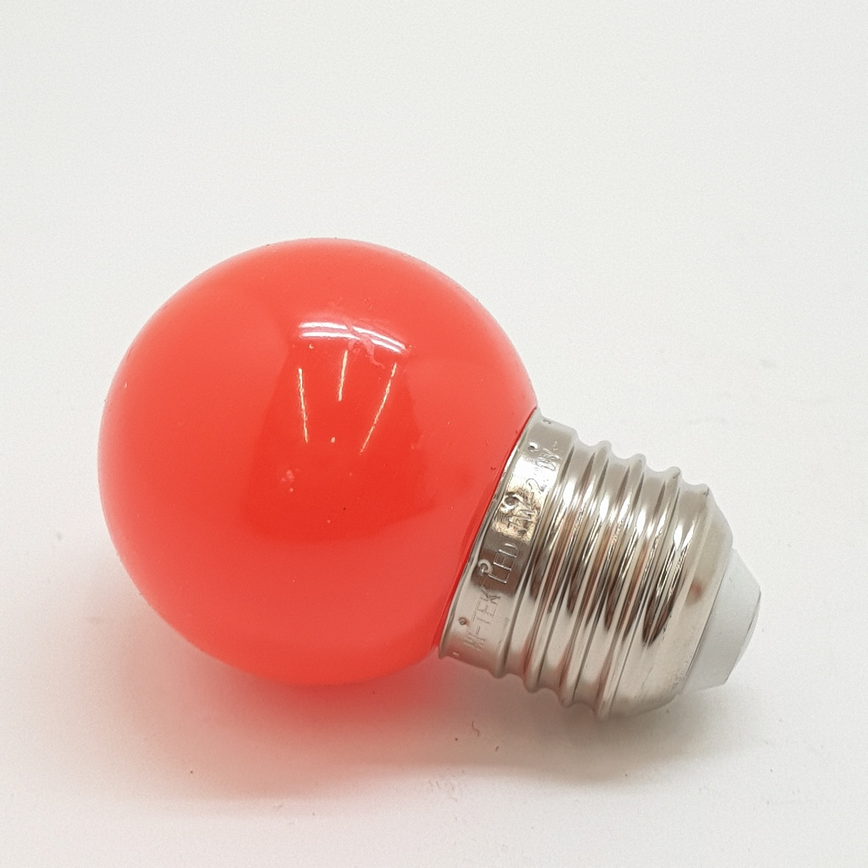 HI-TEK หลอดปิงปอง 1W. E27 HLLC00001R สีแดง
