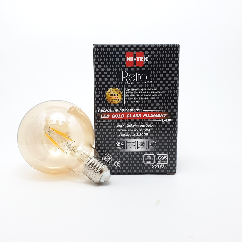 HI-TEK หลอด LED กระจกสีทอง HLLG95004G