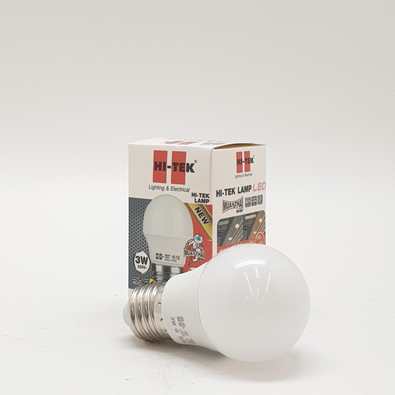 HI-TEK หลอด LED มวยไทย  SERIES ขั้วเกลียว E27 3W แสงขาว HLLM27003D