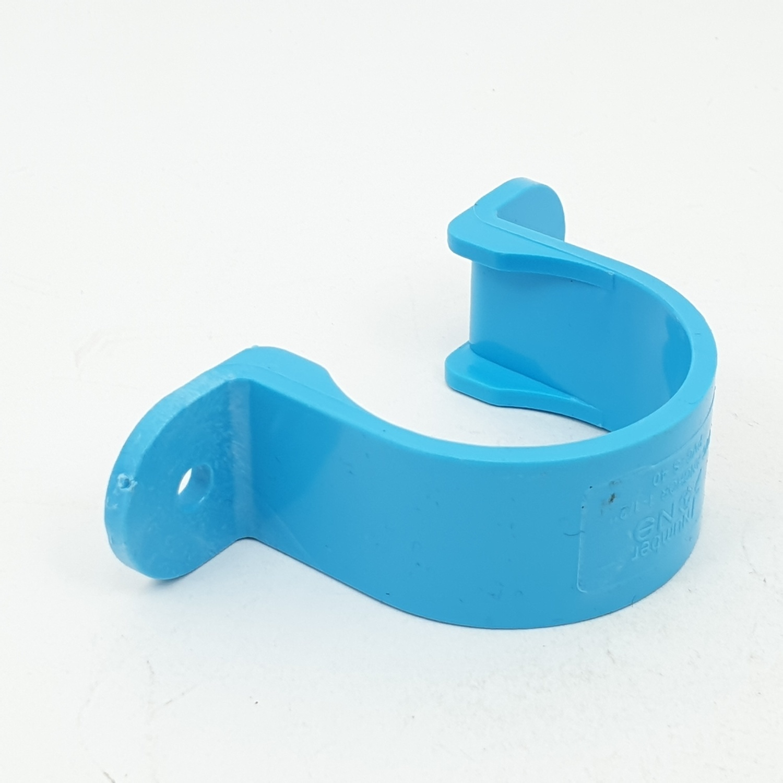 Number One กิ๊บจับท่อ  1.1/2 นิ้ว สีฟ้า