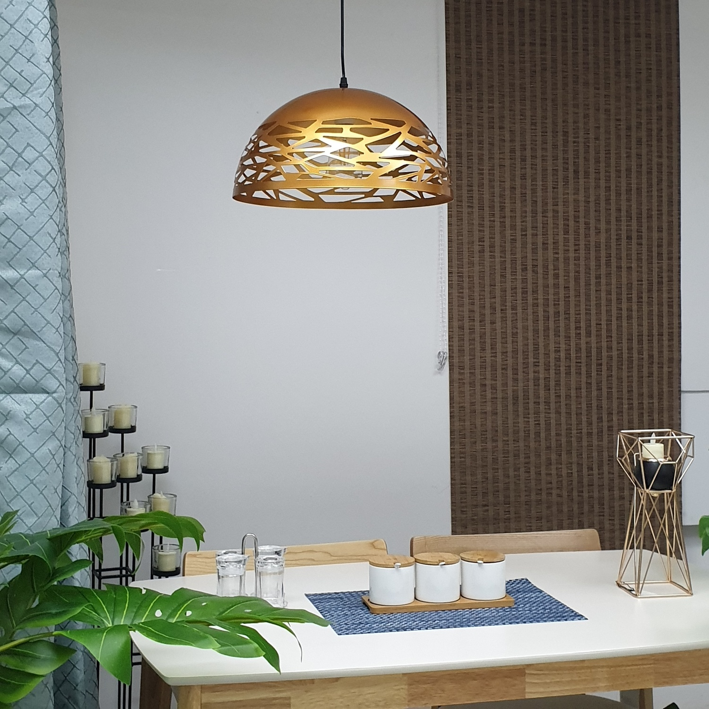EILON โคมไฟแขวน Loft  YD-DT1602M โกลด์**แถมฟรี 8859548104464หลอด LED ฟิลาเมนต์ Edison E27 รุ่น GY-003 4 วัตต์ EILON**