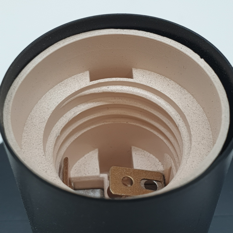 EILON โคมไฟตั้งโต๊ะวินเทจ 40 W ขั้ว E27 HFT0131A-1 สีดำ