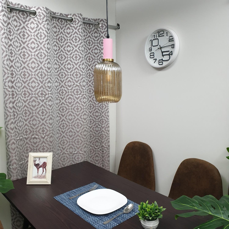 EILON โคมไฟแขวนกระจกลอฟท์ ZS-049 สีขาว