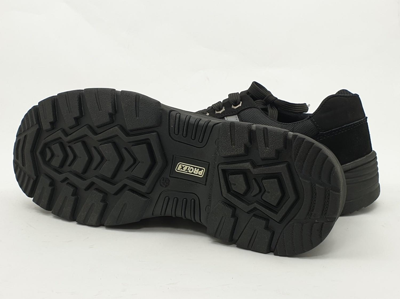 Protx  รองเท้าเชฟตี้ #45 พื้น PU  W1 สีดำ