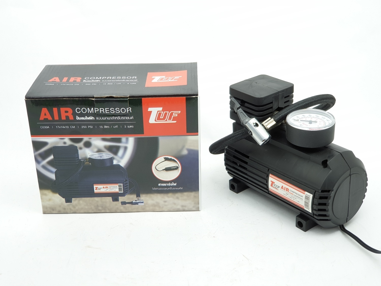 TUF ปั้มลมไฟฟ้าแบบพกพาสำหรับรถยนต์ C030A-250PSI