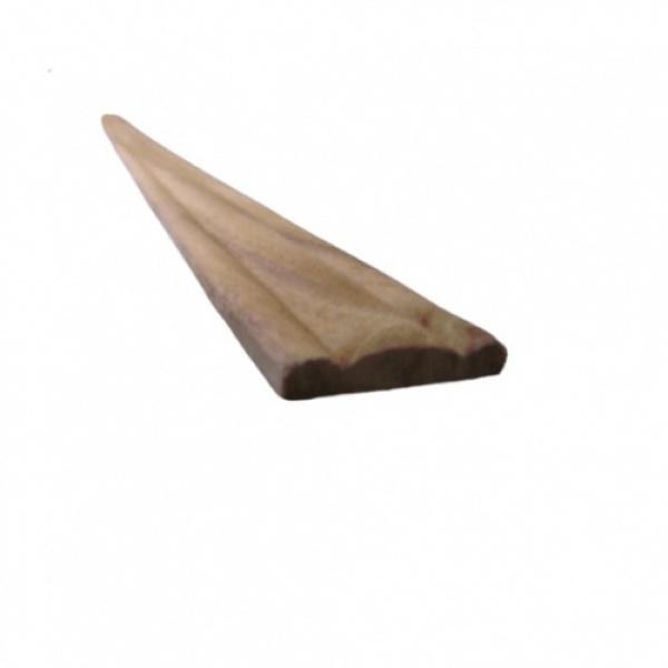 -  คิ้วไม้สัก ขนาด  1/4นิ้ว x1.1/4นิ้ว x8ฟุต SJK22
