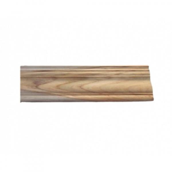 - ไม้บัวบนไม้สัก (บัวฝ้า) ลายมาก  ขนาด  5/8นิ้ว x3นิ้ว x2.50ม. SJK56