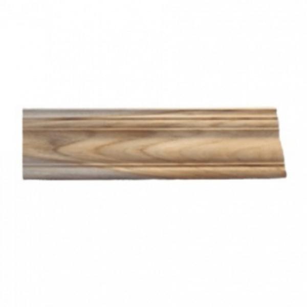 - ไม้บัวบนไม้สัก(บัวฝ้า) ลายร่องเงิน1  ขนาด 5/8นิ้ว x4นิ้ว x2.00ม.  SJK57