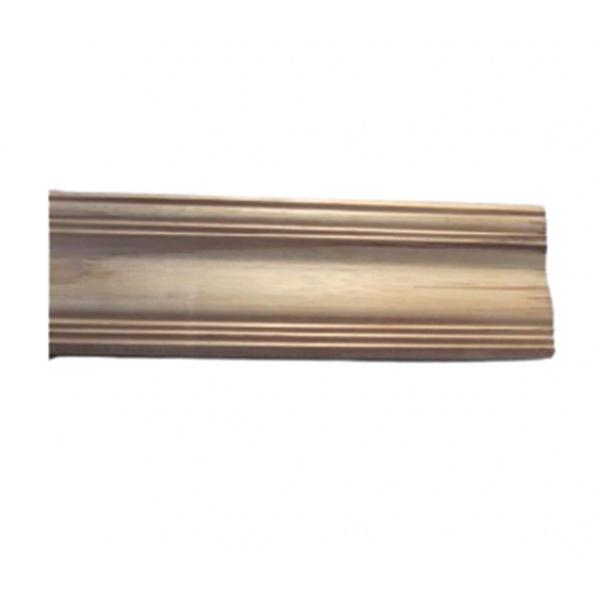 SJK ไม้บัวบนไม้สัก(บัวฝ้า) ลายร่องเงิน3 ขนาด  5/8นิ้ว x4นิ้ว x3.50ม. SJK59