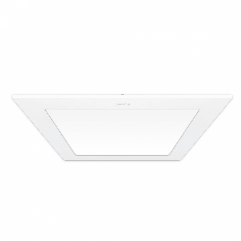 LAMPTAN โคมแอลอีดี ดาวน์ไลท์ 24W (4เหลี่ยม)  วอร์มไวท์ P.10 Ultra slim สีขาว
