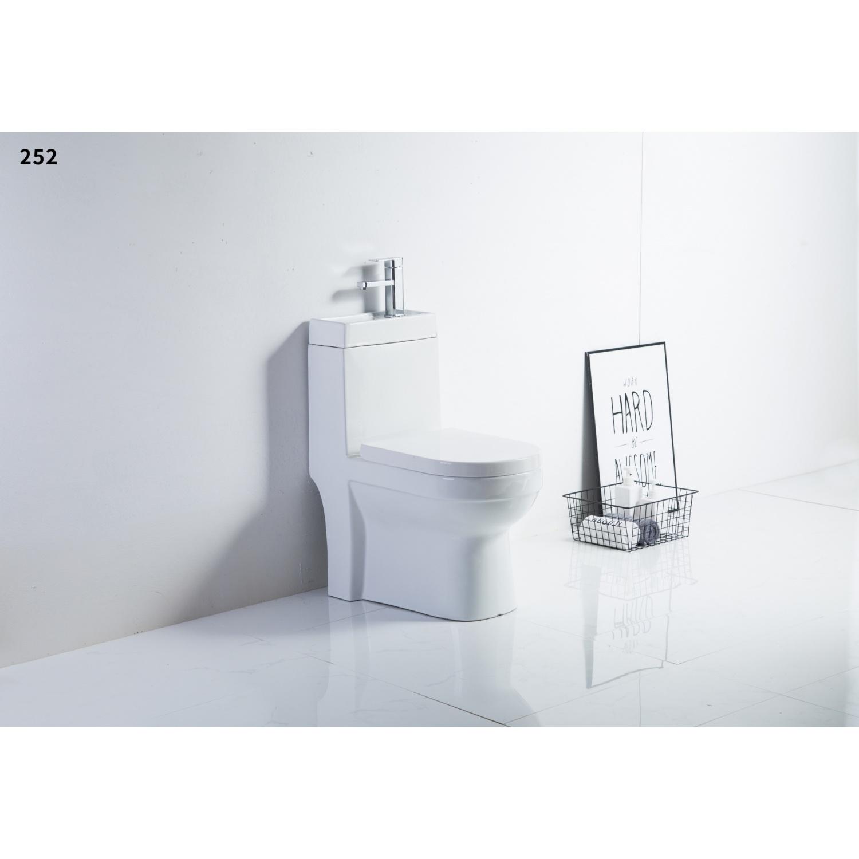 VERNO สุขภัณฑ์ชิ้นเดียวพร้อมอ่างล้างมือ  เพรสตัน VN-252