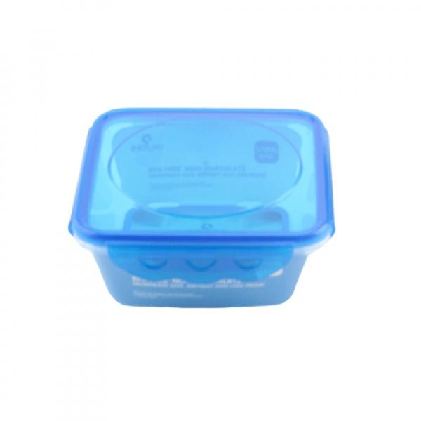 GOME กล่องอาหารพลาสติกทรงสี่เหลี่ยม ขนาด 13.3x13.3x6.3 ซม. E1624A-BU 570ML สีน้ำเงิน
