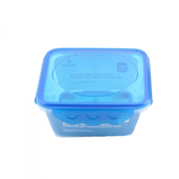 GOME กล่องอาหารพลาสติกทรงสี่เหลี่ยม ขนาด 16.3x16.3x8.2 ซม. E1625A-BU 1,200ML. สีน้ำเงิน