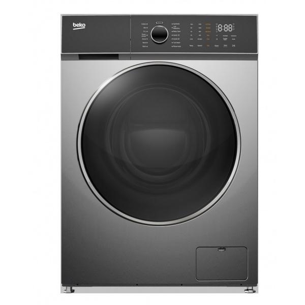 BEKO  เครื่องซักผ้า/อบผ้าฝาหน้า 10.5/6 กก.  WDW106141DWMP1 สีเทาเข้ม
