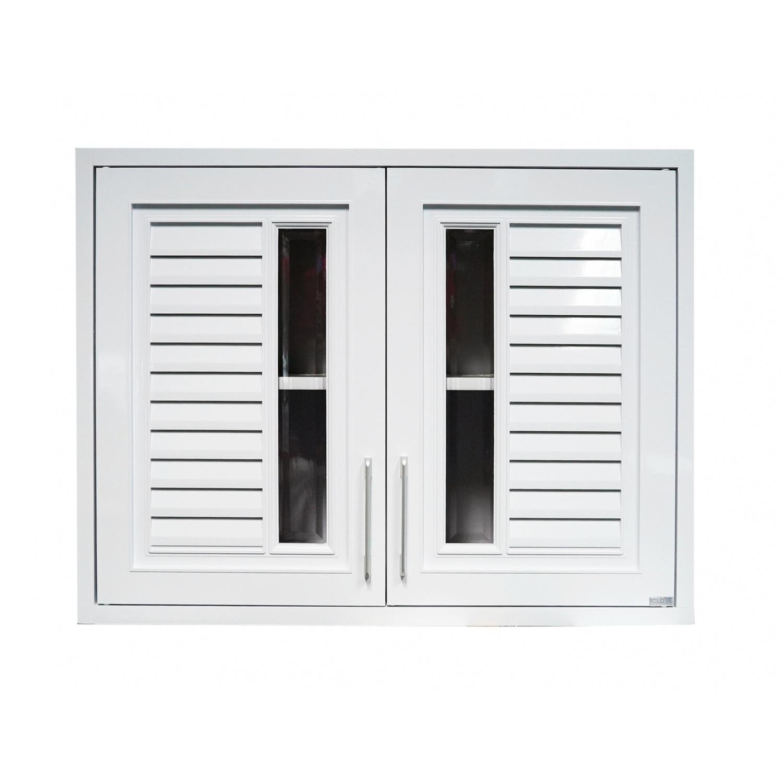 CLOSE ตู้แขวนคู่  ABS ขนาด 86x66x34 ซม. ALISA สีขาวออร่า