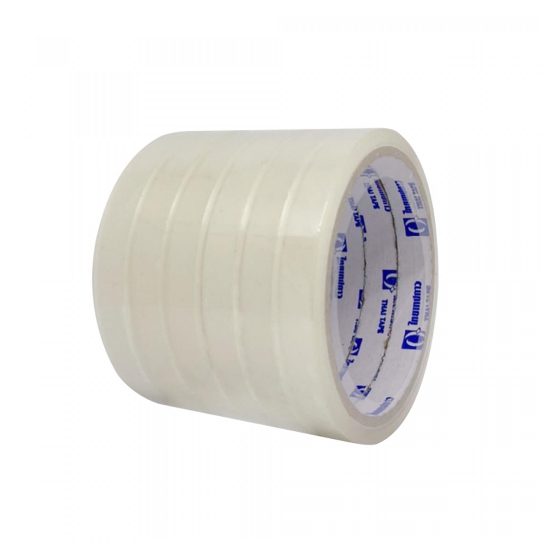 THAI TAPE เทปOPP สีใส  ขนาด 12mm x 36Y (6 ม้วน/แพ็ค)