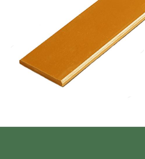 โอฬาร ไม้ระแนง ขนาด 0.8x7.5x300 ซม.สีทองประกายตะวัน ลบเหลี่ยม