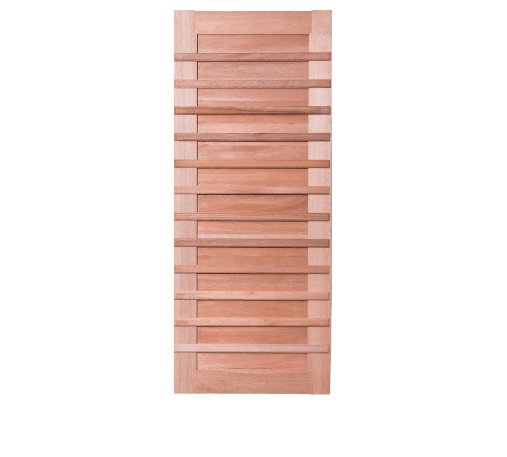 BEST ประตูไม้สยาแดงบานทึบ 80x220ซม. GS-59