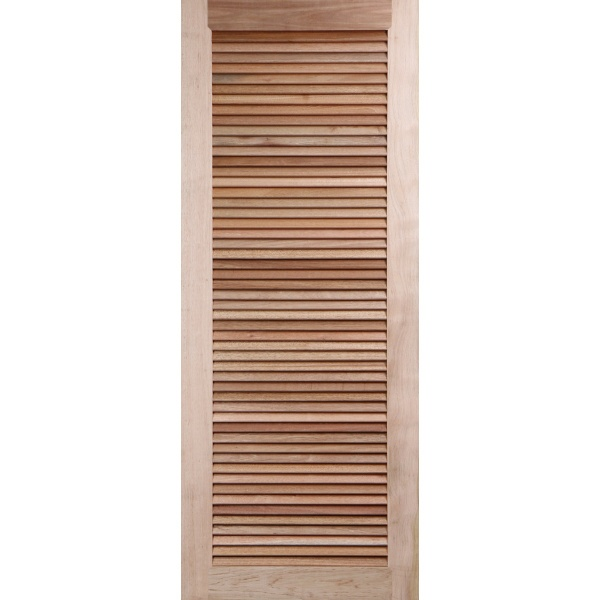 BEST ประตูไม้สยาแดง  บานเรียบเกล็ดเต็มบาน 70X200 ซม. GS-23