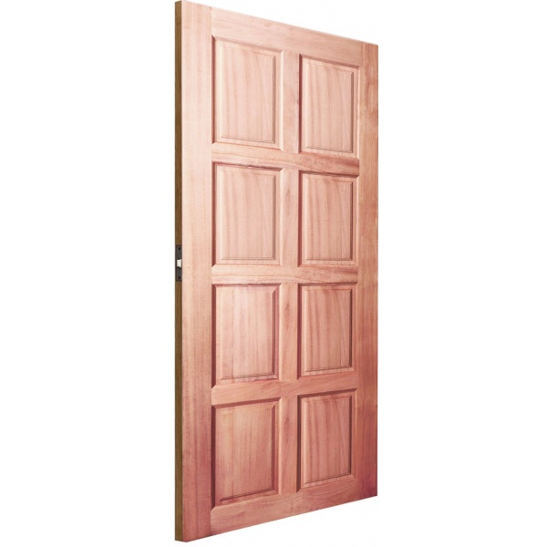 BEST ประตูไม้สยาแดงบานทึบ 8ฟัก  100x200 cm.     GS-48