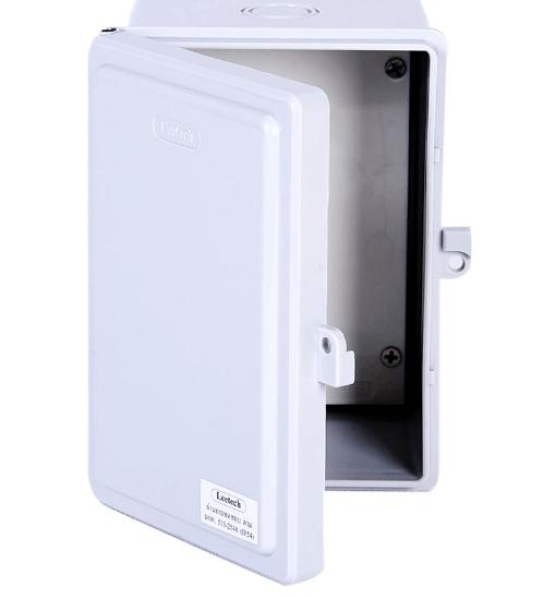 Leetech ตู้กันน้ำฝาทึบ CA406G เทา