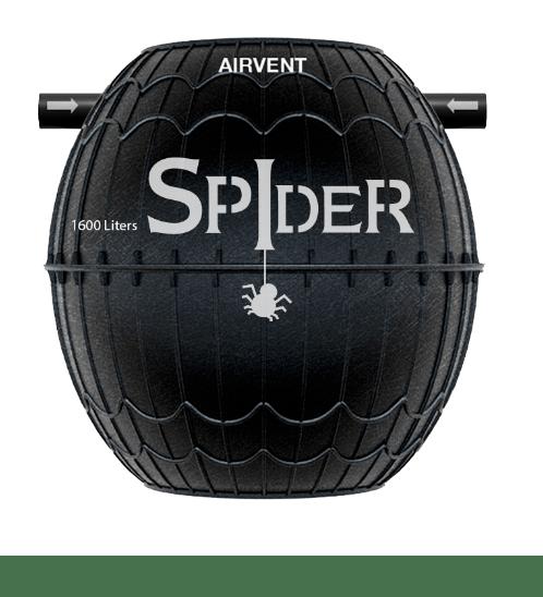 ADVANCE ถังบำบัดน้ำเสีย 1600 ลิตร spider 1600 ดำ