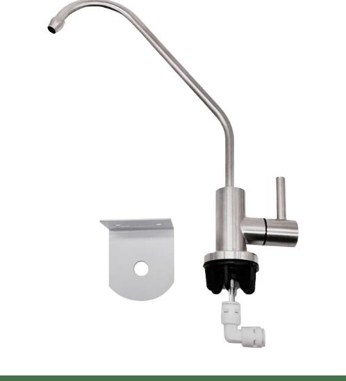MAZUMA ก๊อกน้ำสำหรับเครื่องกรองน้ำดื่ม  12824-F ขนาด 1/4 นิ้ว  สีขาว