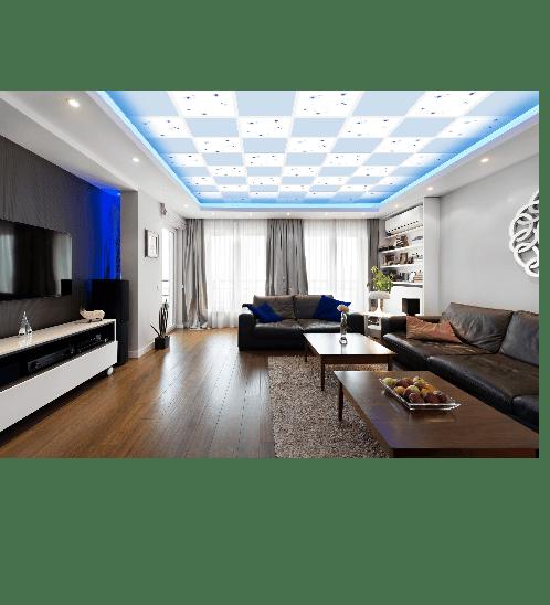 ยิปรอค แผ่นยิปซัมฝ้าเพดาน โปรคลีน คัลเลอร์ สีฟ้านภาขอบตรง 8x600x600 ProClean Color Sky Blue