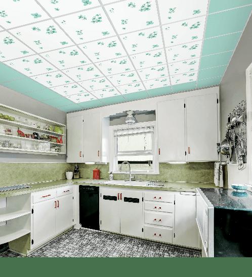 ยิปรอค แผ่นยิปซัมฝ้าเพดาน ขอบตรง 8x600x600 ProClean Color Crystal Green