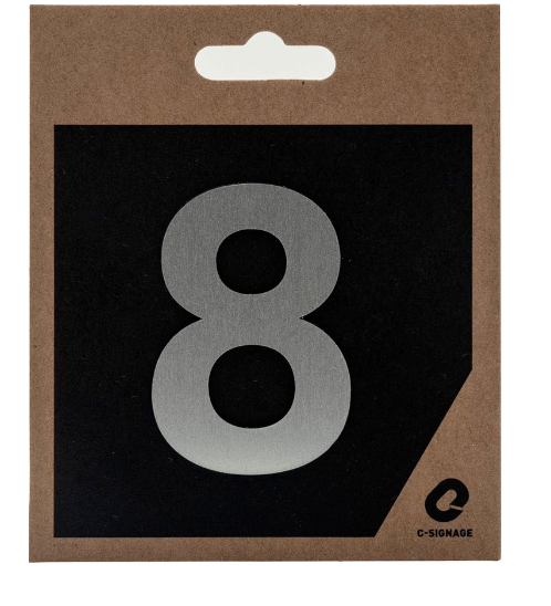 C Signage ป้ายอลูมิเนียม (ตัวเลข 8) (แบบด้าน)  CSLS-A 2008