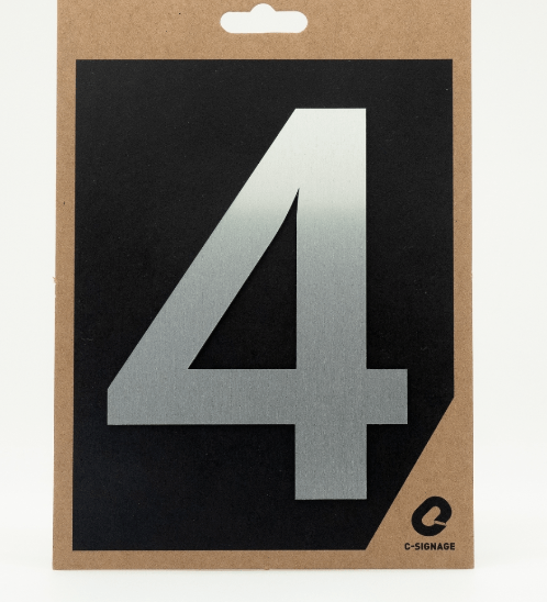 C Signage ป้ายอลูมิเนียม  (ตัวเลข 4)แบบด้าน Futura-A1004