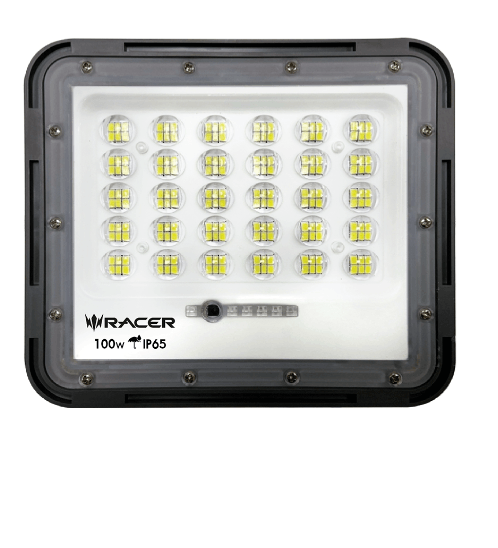 Racer โคมไฟฟลัดไลท์โซล่าร์เซลล์ อินฟินิต 100W IP65 6500K แสงขาว INFINITE