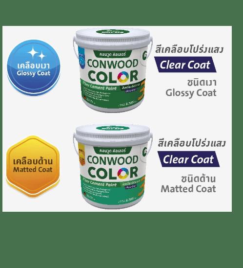 CONWOOD คอนวูดคัลเลอร์ สีทับหน้า ชนิดเงา
