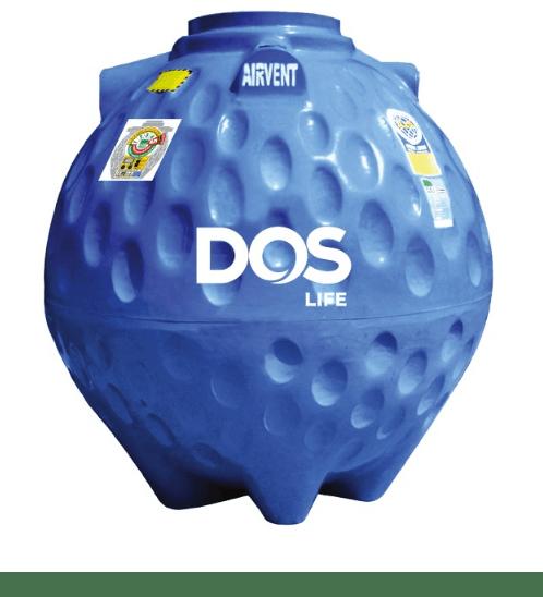 DOS ถังเก็บน้ำใต้ดิน 1200L DUT GOLD สีน้ำเงิน