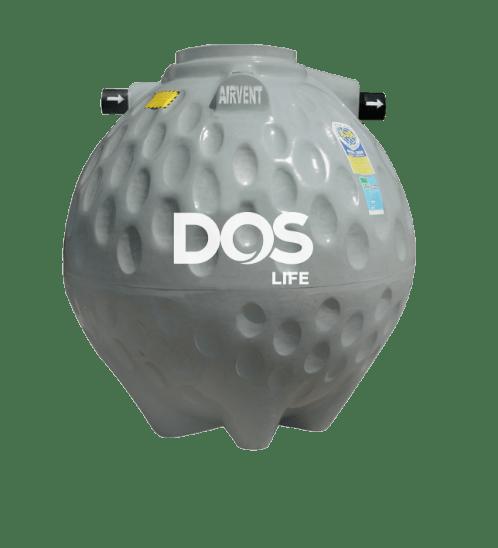 DOS ถังบำบัดน้ำเสีย 600L  COMPACT  สีเทา